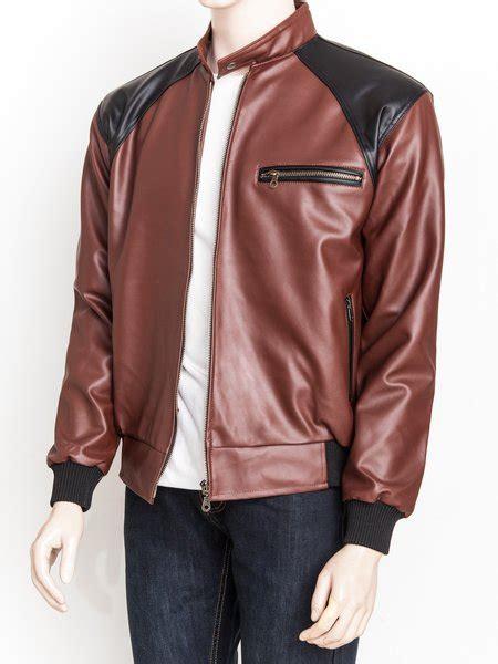 jual jaket kulit sintetis premium warna kombinasi hitam