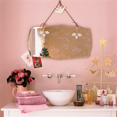 retro pink bathroom decor my home on pink sofa pink and shabby