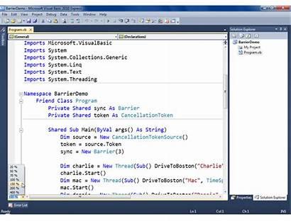 Visual Basic Express Studio Microsoft Editor Screenshot