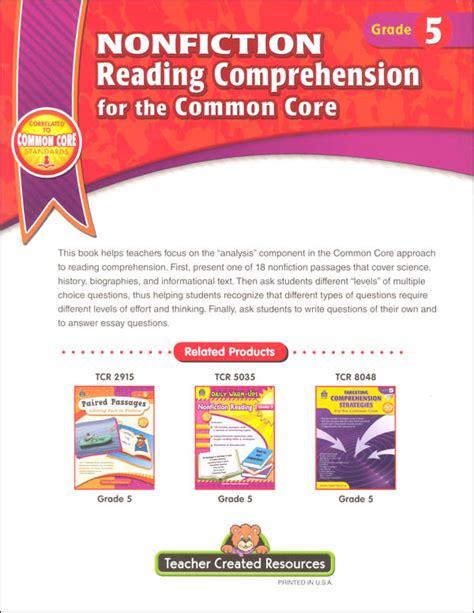 common reading comprehension worksheets grade 5 get