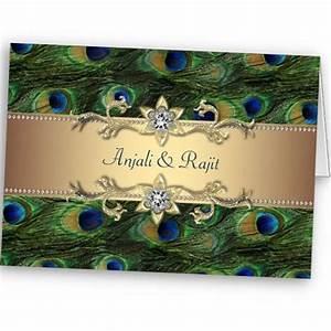Attractive peacock wedding invitation   So Pretty ...
