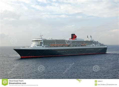 Modern Cruise Ship Approaching Port Royalty Free Stock