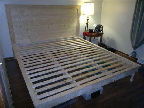 images  diy king bed frame headboard