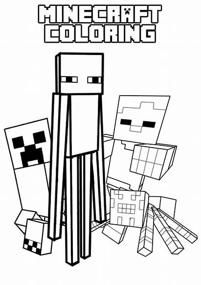Minecraft Coloring Mob Enderman