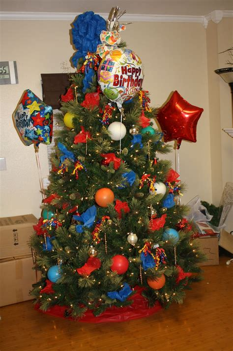 birthday tree decorated  dollar store total cost
