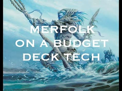 mtg budget modern merfolk deck tech youtube