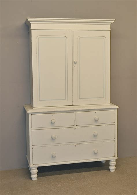 Painted Cupboard by Painted Pine Linen Cupboard M2525 Antiques Atlas