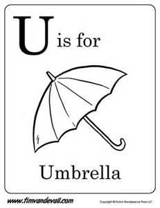 alphabet learning for preschoolers u is for umbrella letter u coloring page pdf