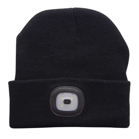 beanie with light 4 led light headl cap knit beanie hat for