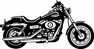 Harley davidson motorcycle clipart black and white - Clipartix