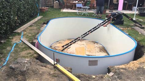 pool eingraben ohne beton poolbau