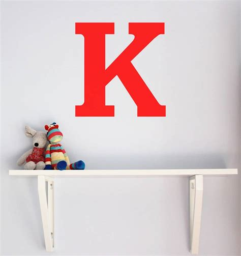 large letter wall sticker   chip