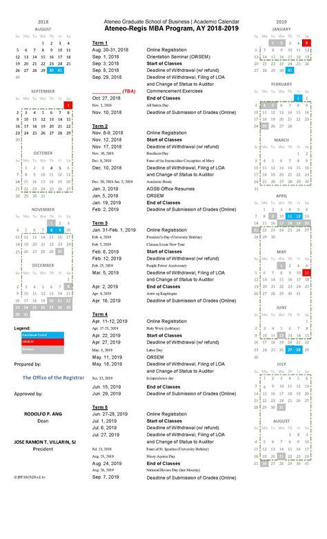 gsb calendar