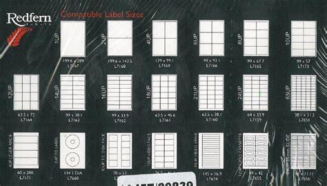 redfern avery laser labels   sheets  box