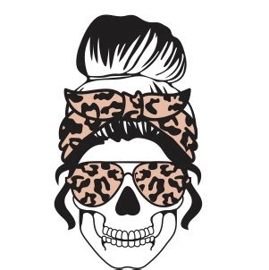 ***please be sure to have the correct software for opening and using these file types*** Messy Bun Mom Skull SVG | Mom Life skull svg cut file ...