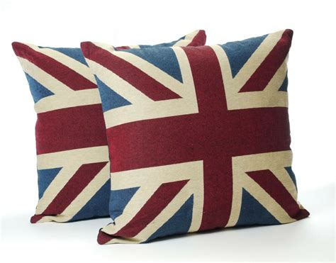 Union Cusions - a pair of vintage union cushions complete with pad