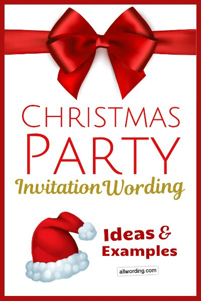 Christmas Party Invitation Wording: Ideas and Examples