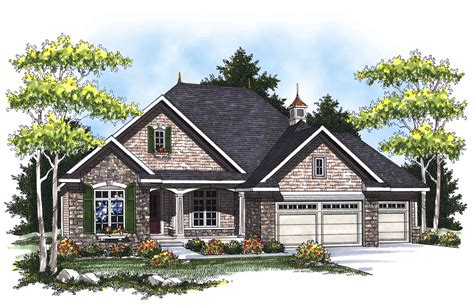 Country French Ranch Home Plan