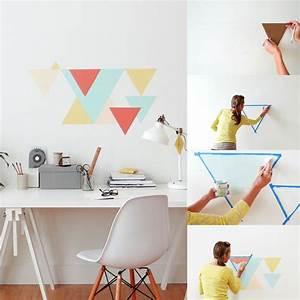 Wandgestaltung Selber Machen : wandgestaltung selber machen geometrische muster an die ~ Lizthompson.info Haus und Dekorationen