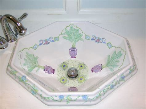 hand painted bathroom sinks 11 best hand painted sinks images on pinterest hand