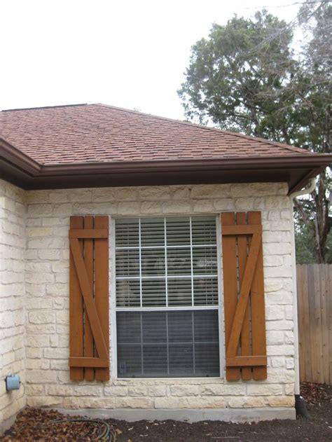 house dressing   exterior cedar shutters