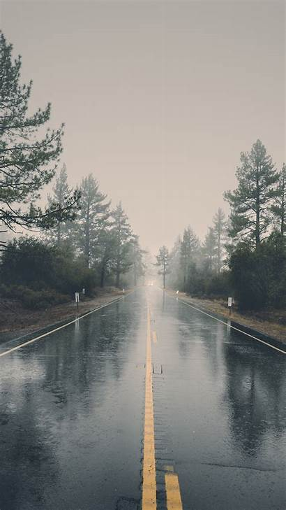 Rain Road Nature Iphone Street Background Wallpapers
