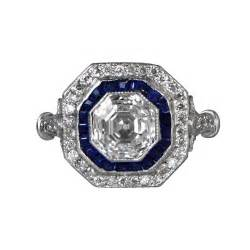 sapphire engagement rings vintage vintage sapphire cut ring 00897969 estate jewelry