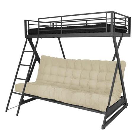 lit mezzanine avec canapé convertible fixé my