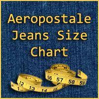 aeropostale jeans size chart jeans hub