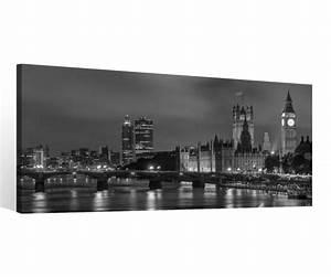 London Skyline Schwarz Weiß : leinwand 1 tlg london schwarz wei stadt skyline bild wandbild aufgespannt 9c074 holz fertig ~ Watch28wear.com Haus und Dekorationen