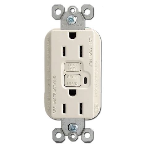 light switch with outlet light almond 15a gfi receptacle kyle switch plates