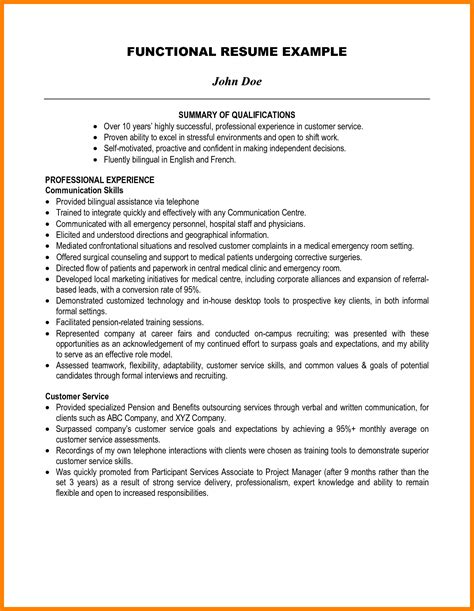 summary  qualification resume examples ledger review