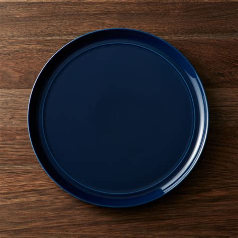 hue navy blue dinner plate reviews crate  barrel