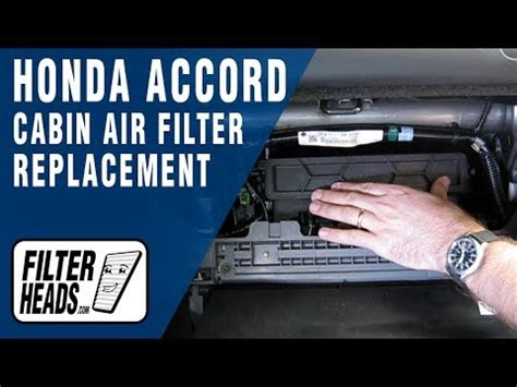 replace cabin air filter honda accord youtube
