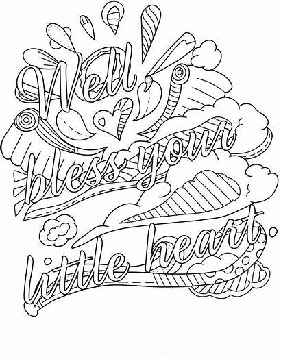 Coloring Pages Word Curse Printable Swear Getcolorings