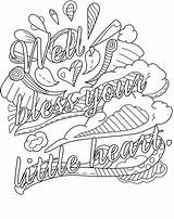 Swear Word Coloring Adult Pages Words Printable Adults Getdrawings sketch template