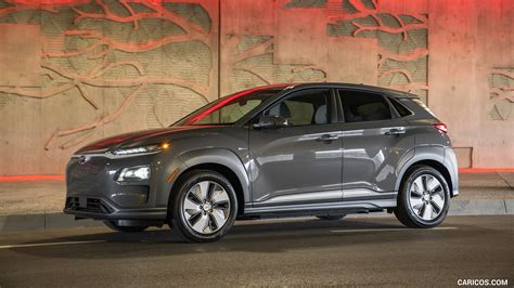 Hyundai Kona 2019 Backgrounds by 2019 Hyundai Kona Electric Front Three Quarter Hd