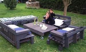 15 idees pour fabriquer son salon de jardin en palettes With idee pour jardin exterieur 3 les palettes reinventent le mobilier de jardin