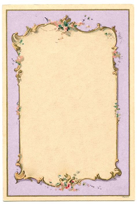 vintage image french lilac frame  graphics fairy