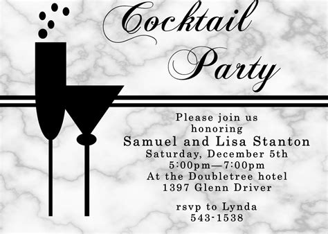Black and White Party Invitations NEW selections Spring 2020