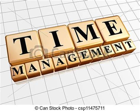 clipart  time management  golden cubes text time