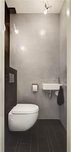 Große Fliesen In Kleinem Bad : kleines g ste wc mit wand wc compact und kleinem handwaschbecken fliesen zum beispiel enmon leo ~ Bigdaddyawards.com Haus und Dekorationen