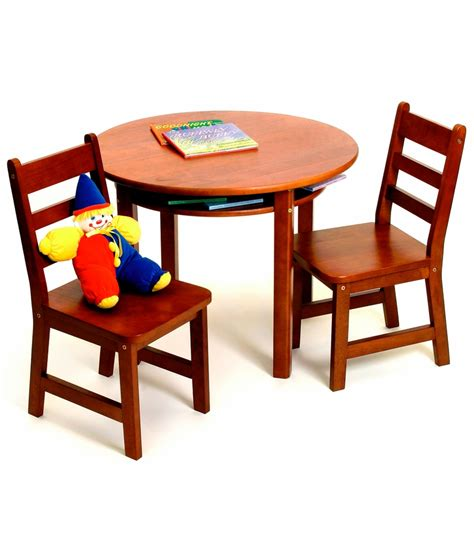 lipper table with shelf 2 chairs cherry