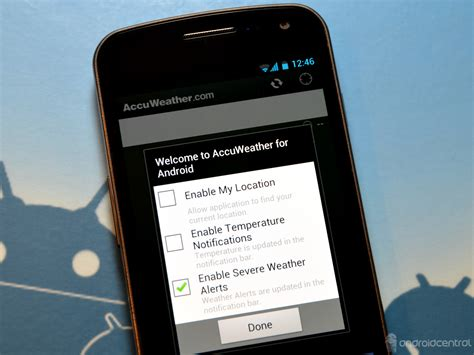 accuweather android app accuweather android app gets push severe weather