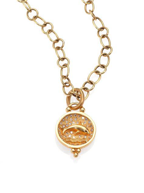 Temple st. clair Tree Of Life Diamond & 18k Yellow Gold
