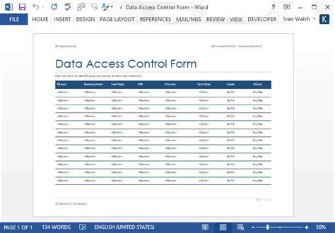 Data Access Control Form