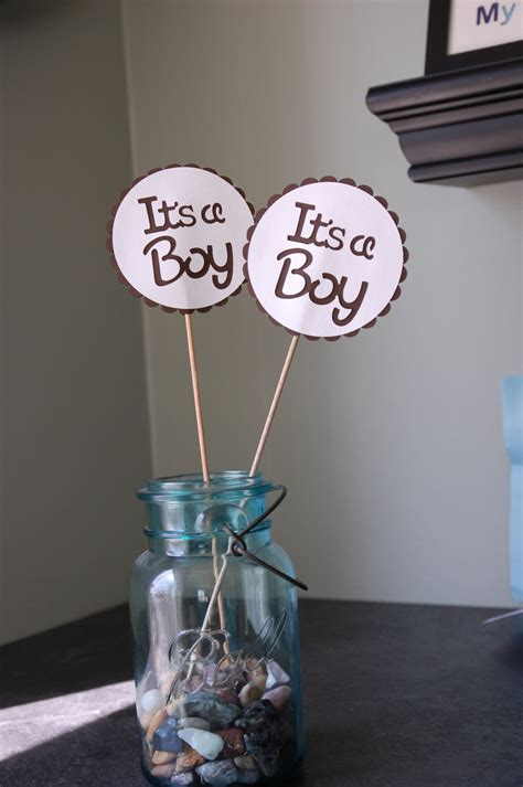 centerpieces for baby shower boy its a boy centerpieces 8 pcs boy baby shower