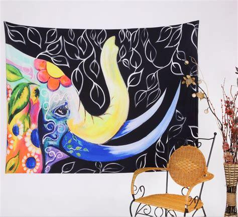 indian elephant mandala tapestry  colors  images