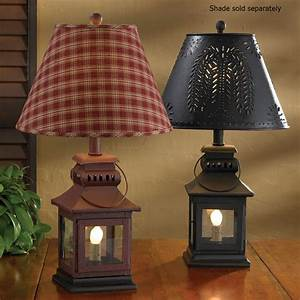 Country Lantern Lamp In Red Or Black 20quot Tall By Park Designs
