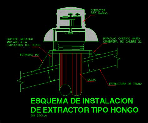detail  mushroom type extractor dwg detail  autocad